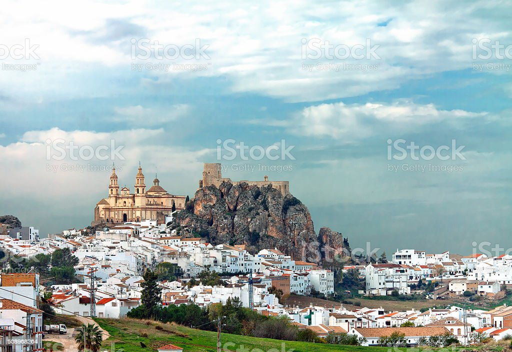 Olvera, Spain stock photo