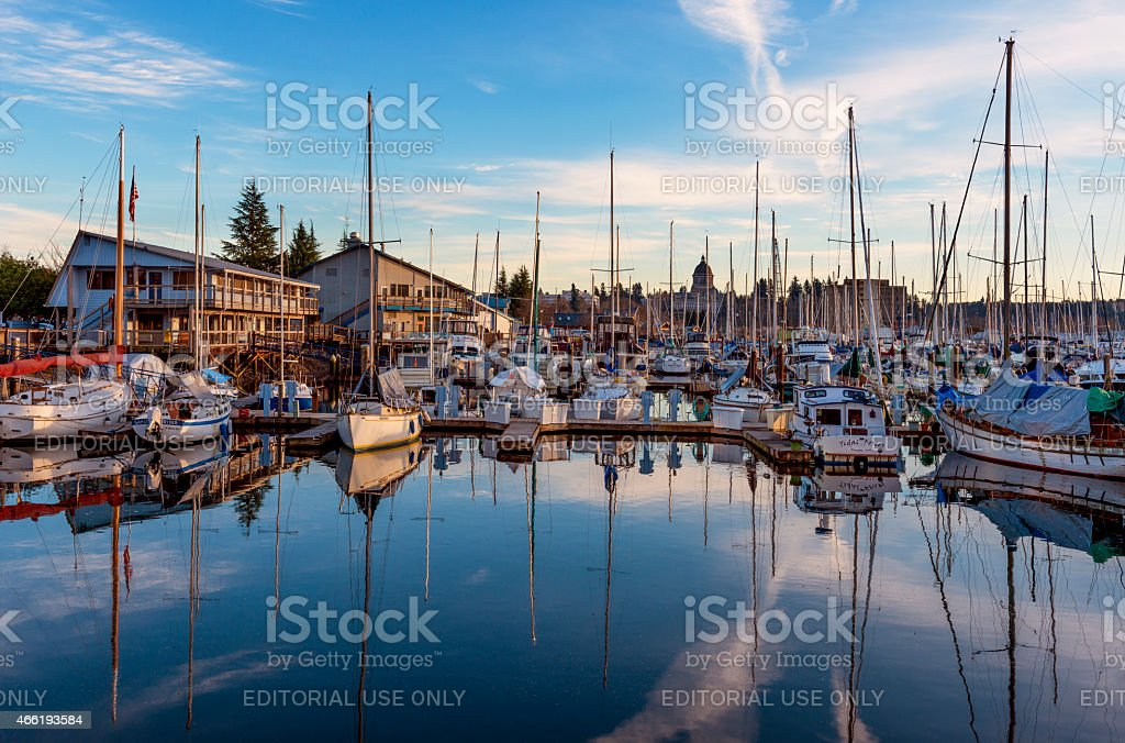 Olympia Marina stock photo