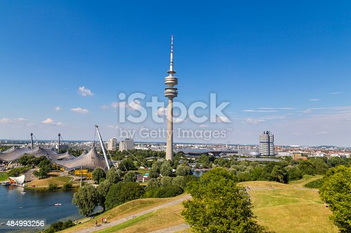 istock Olympia park in Munich, Germany 484993256
