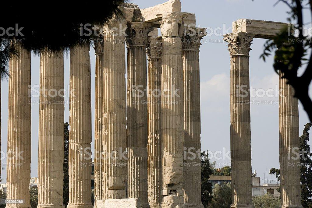 Olympian Zeus Temple - Athens royalty-free stock photo