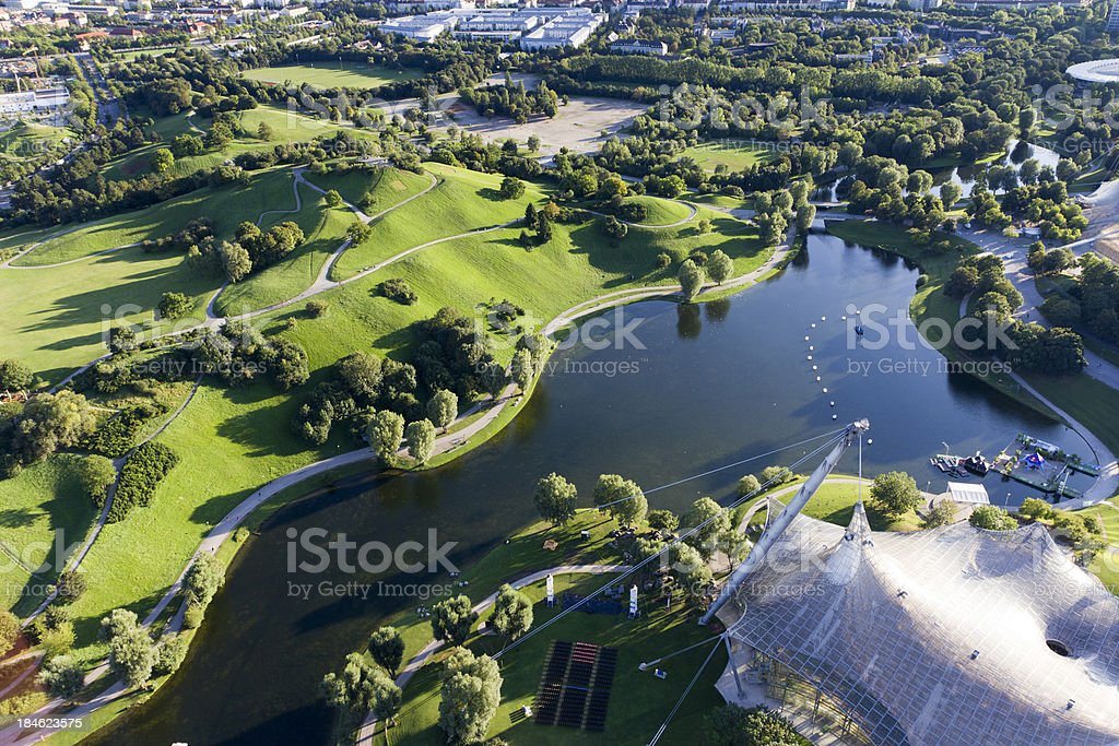 Olympiapark in Munich royalty-free stock photo