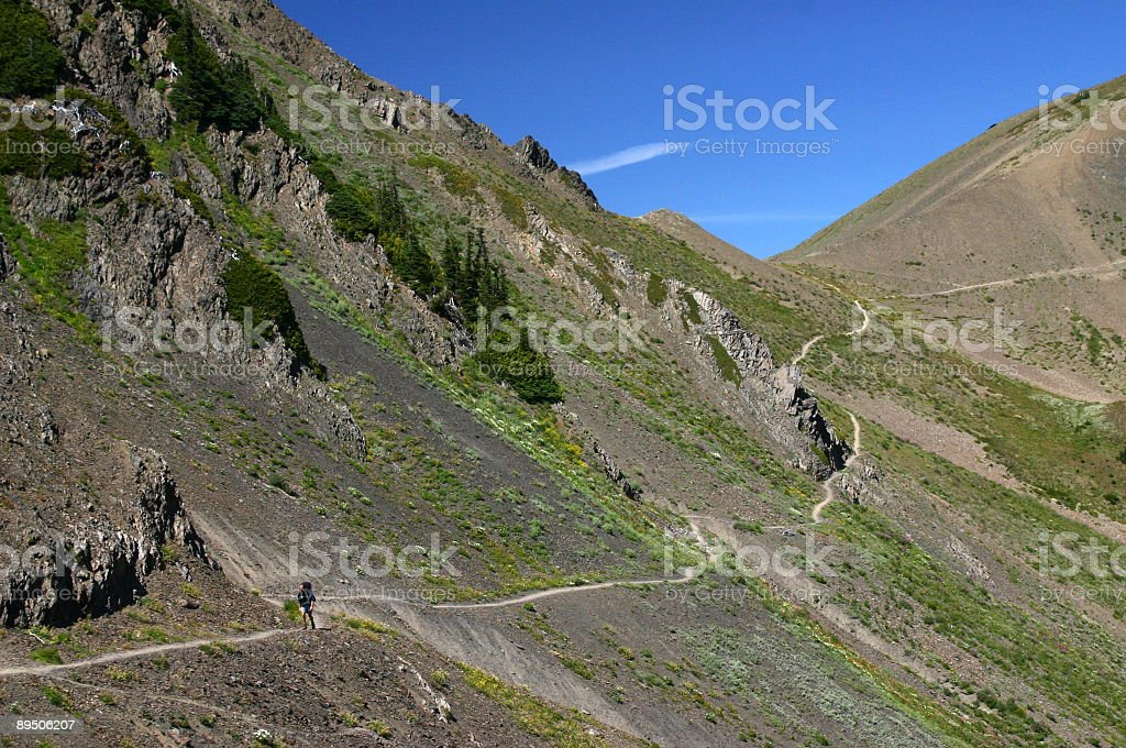 Olympic Alpine Hiking royalty-free stock photo