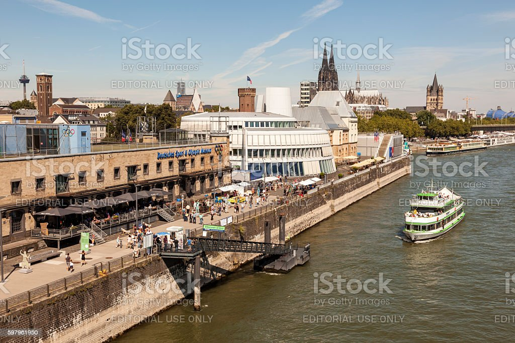 Olympic And Chocolate Museum In Cologne Germany Stock Photo