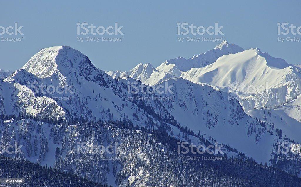 Olympic Mountain Peaks stock photo