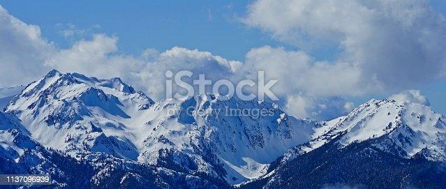 Northwest Washington's Olympic Mountains. Olympic National Park/From Hurricane Ridge.