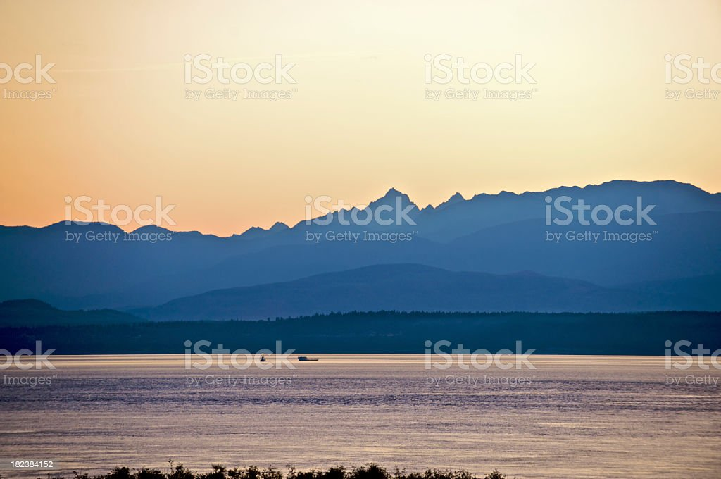 Olympic Mountains royalty-free stock photo