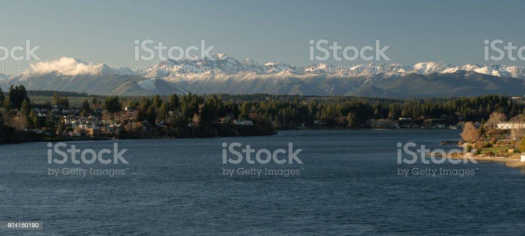 Olympic Mountains Puget Sound Bremerton Washington – Foto