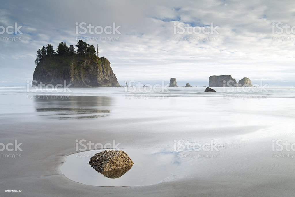 Olympic National Park Coastline, W.A, USA. stock photo