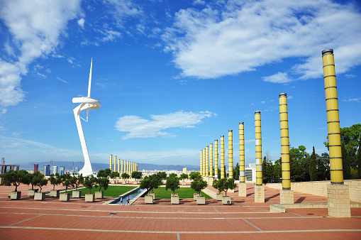 Olympic park in Barcelona