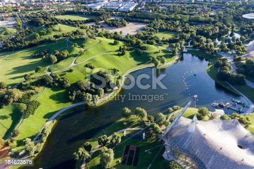 istock Olympic Park in Munich 184623575