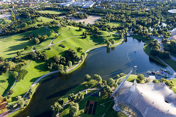 Olympiapark in Munich stock photo