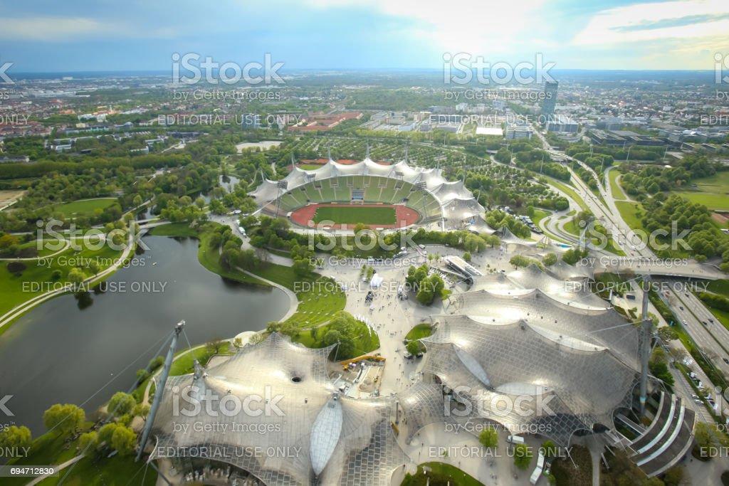 Olympic Park Munich stock photo