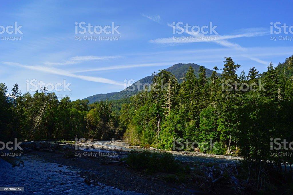 Olympic River Sky X stock photo