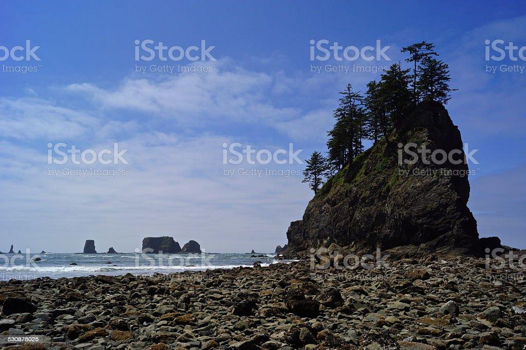 Olympic Second Beach Rocks stock photo