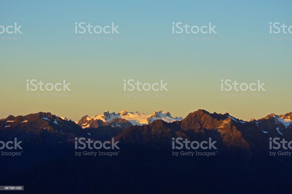 Olympic September Sunrise stock photo
