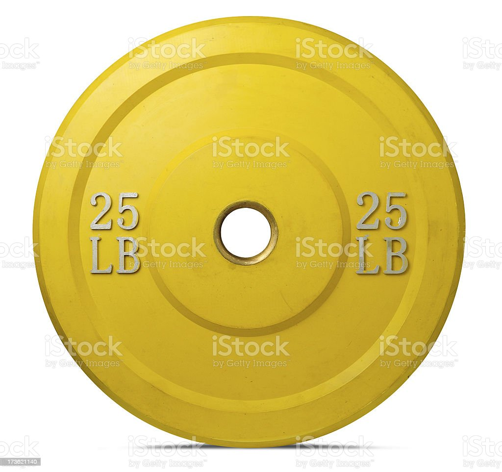 Olympic sized weight plate. stock photo
