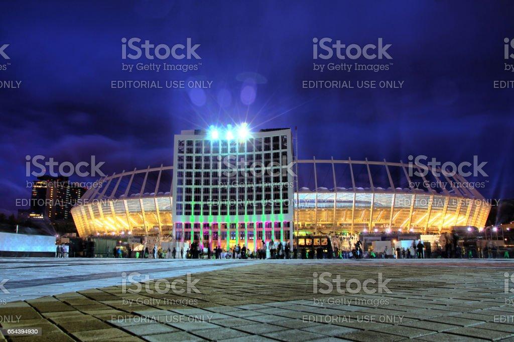 Olympic stadium (NSC Olimpiyskyi) in Kyiv stock photo