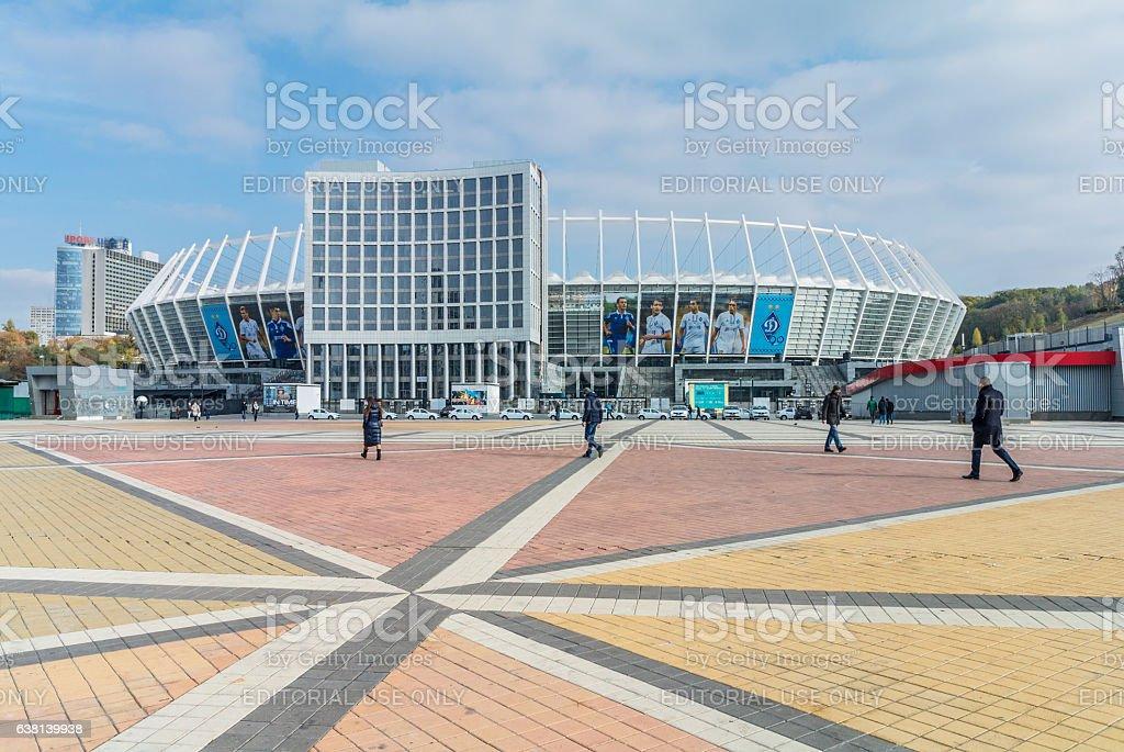 Olympic Stadium (NSC Olimpiysky) in Kyiv, Ukraine stock photo