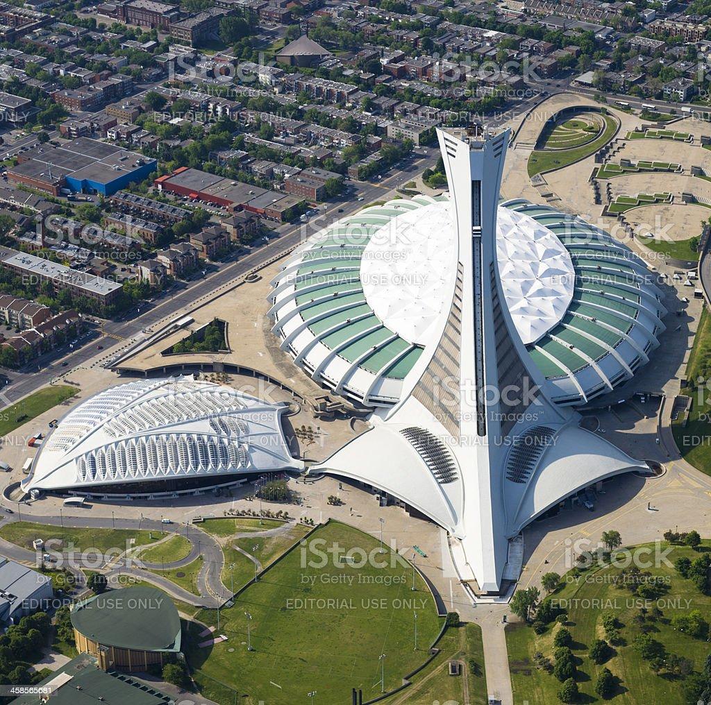 Olympic Stadium in Montreal stock photo