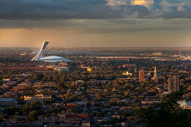 Stade olympique, vue depuis le Mont-Royal, à Montréal - Photo