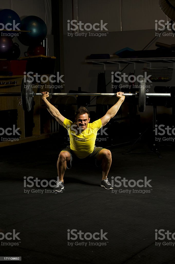 Olympic Style weight lifting royalty-free stock photo