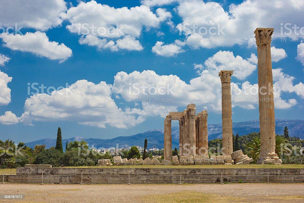 Olympieion in Athens, Greece stock photo