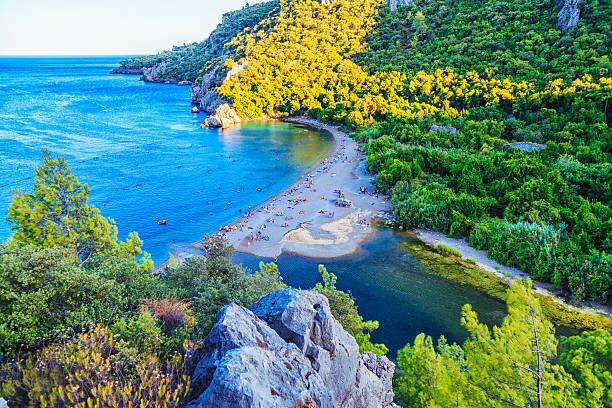 Olympos Beach stock photo