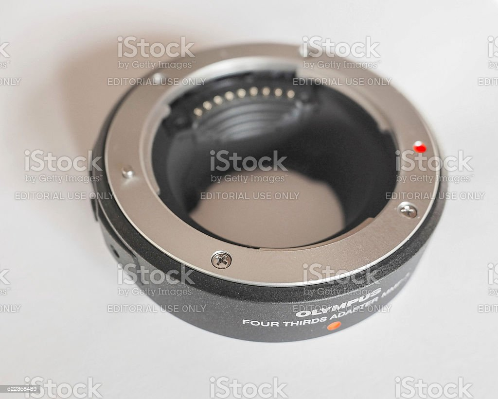 Olympus MMF-3 adapter stock photo