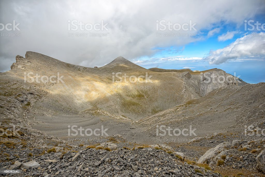 Olympus ridge in Greece stock photo