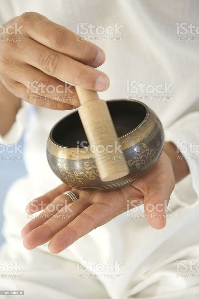 Om bowl royalty-free stock photo