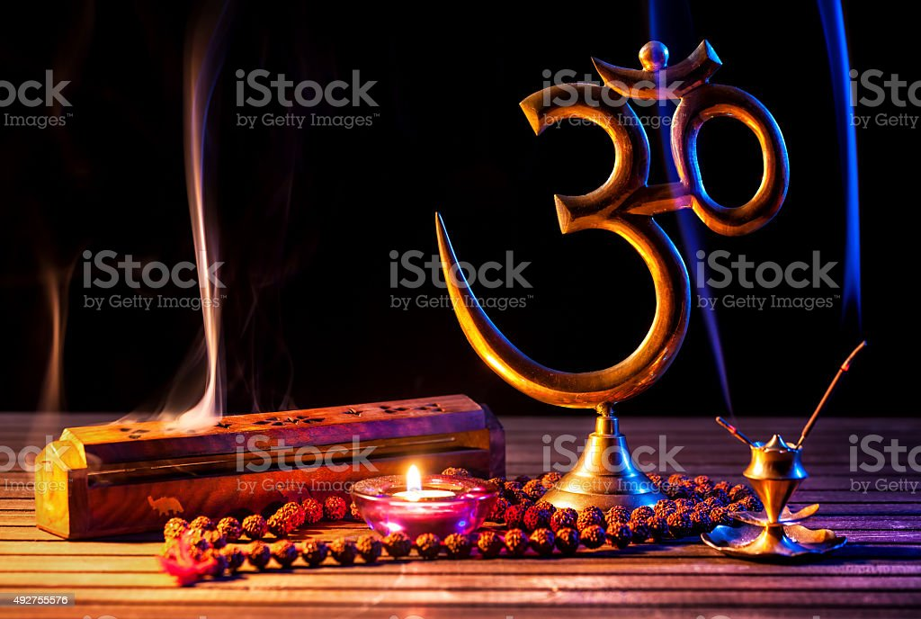 Om shanti stock photo