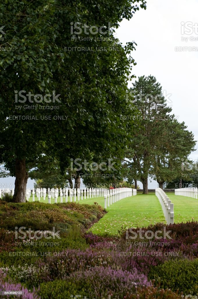 Omaha Beach American Cemetery stock photo