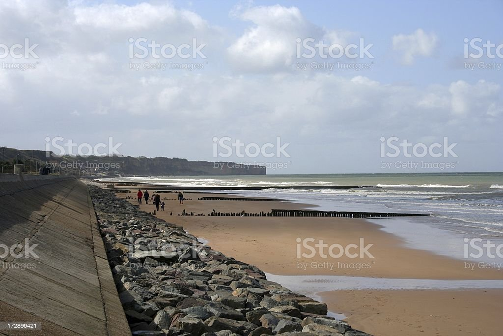 Omaha Beach royalty-free stock photo