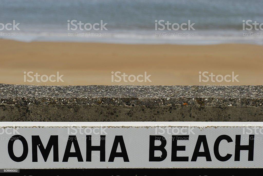 Omaha Beach royalty-free stock photo