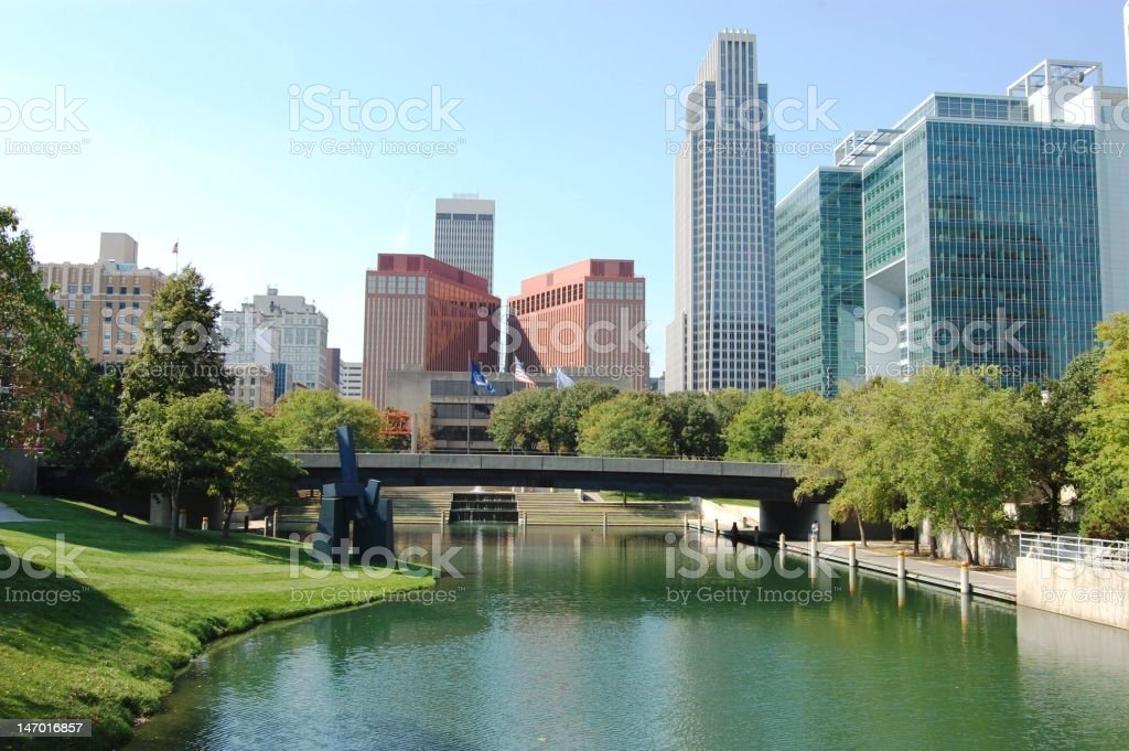 Omaha downtown royalty-free stock photo