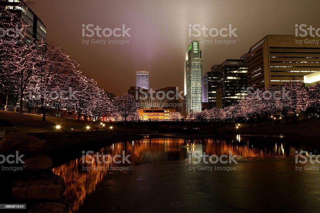 Omaha Holiday stock photo