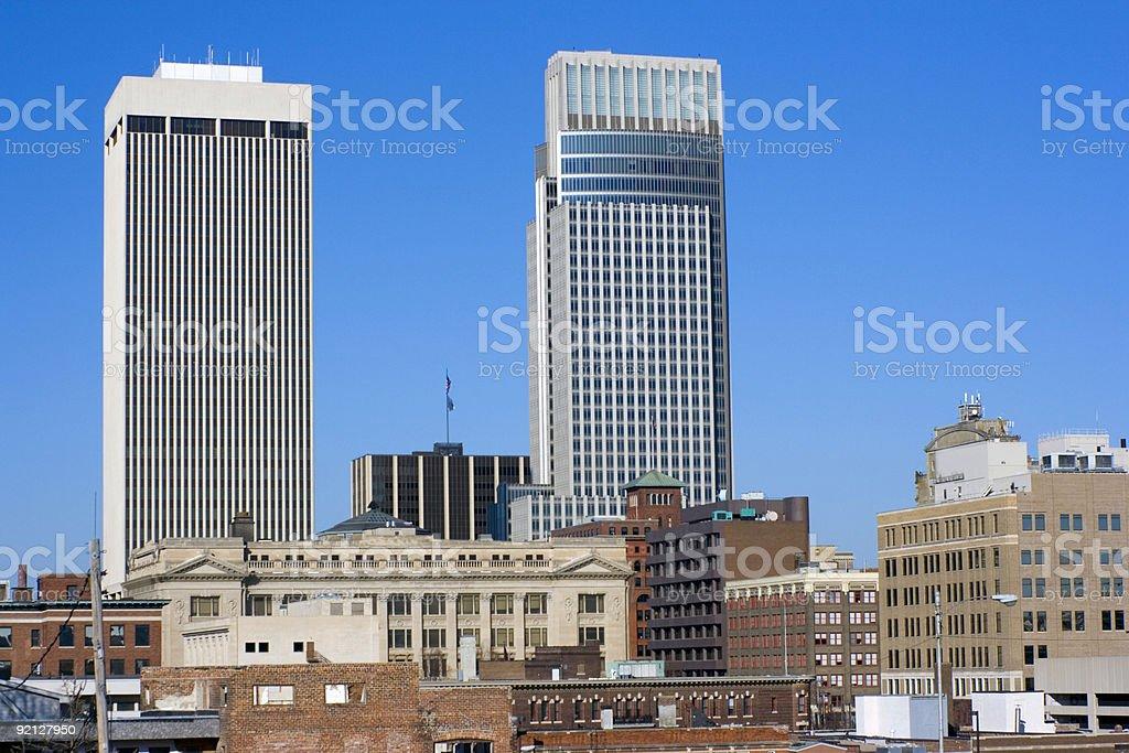 Omaha, Nebraska - downtown royalty-free stock photo
