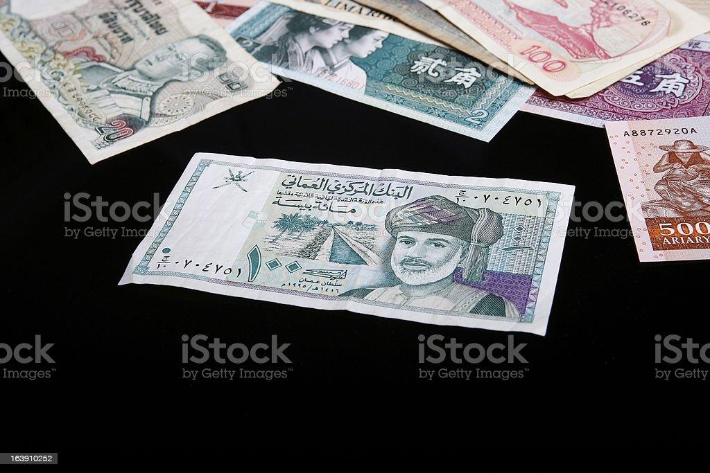 Oman Banknotes royalty-free stock photo