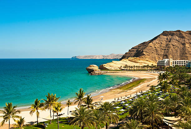 oman coast landschaft - oman travel stock-fotos und bilder