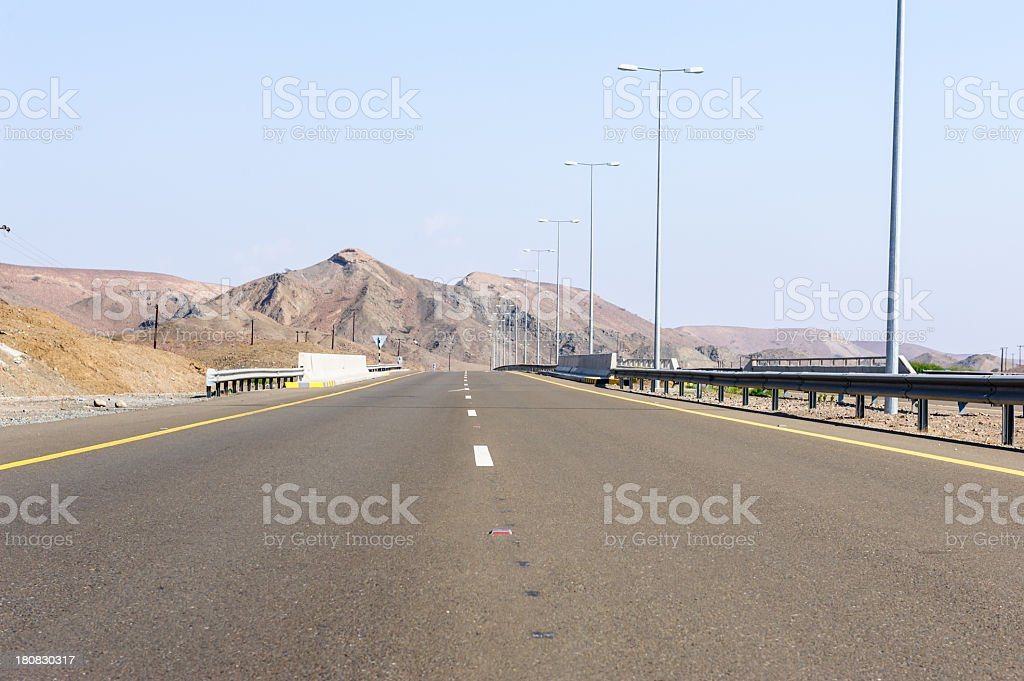 Oman highway royalty-free stock photo