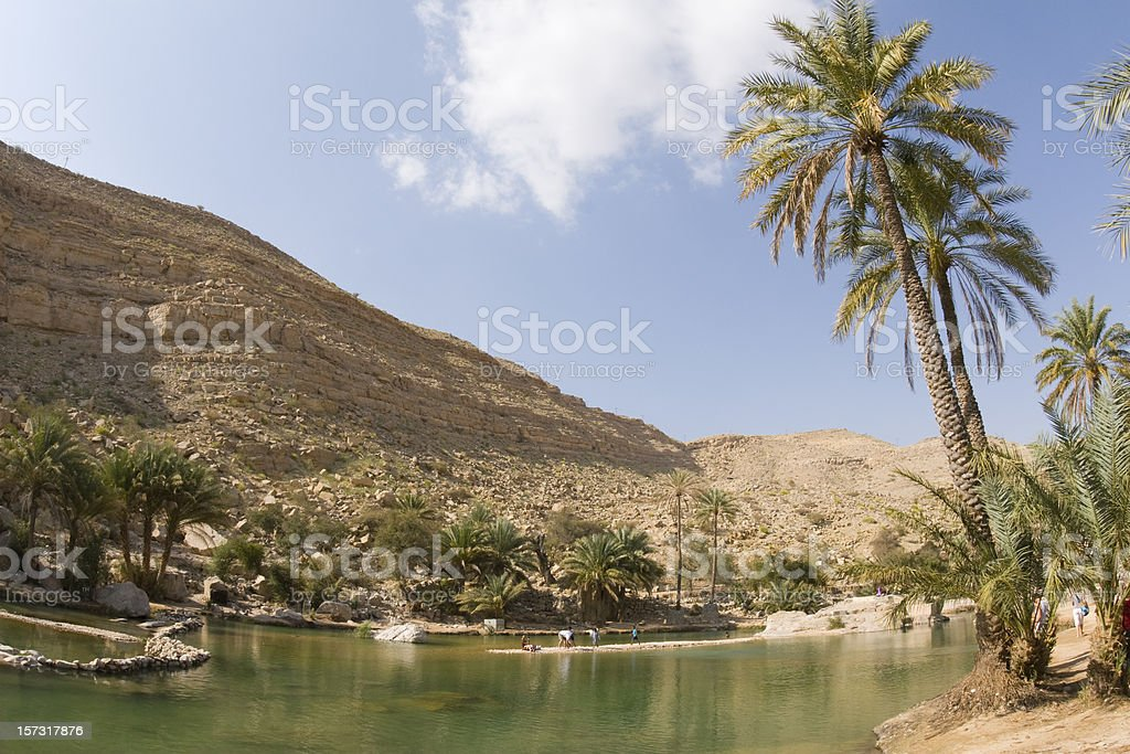 Oman Wadi Bani Khalid royalty-free stock photo