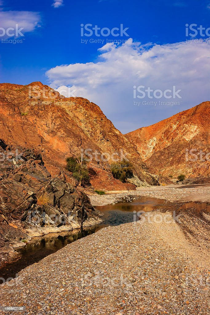 A Wadi in the Sultanate of Oman near the Capital city of Muscat. The...