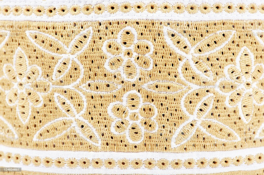 omani cap detail royalty-free stock photo
