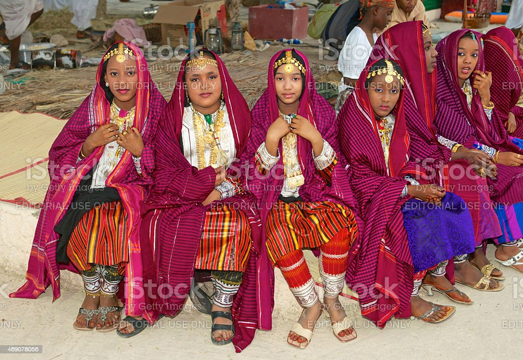 Omani Girls stock photo