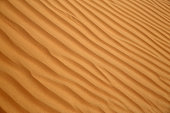 Close up of a sand dune at sunset, Rub al Khali or Empty Quarter, Oman