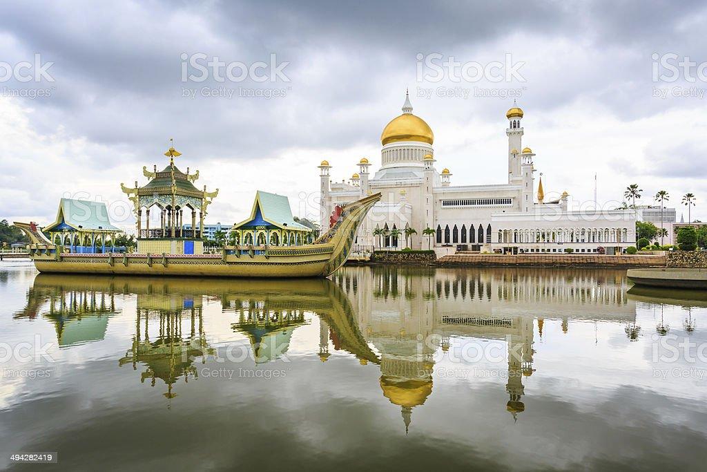Omar Ali Saifudding Mosque stock photo