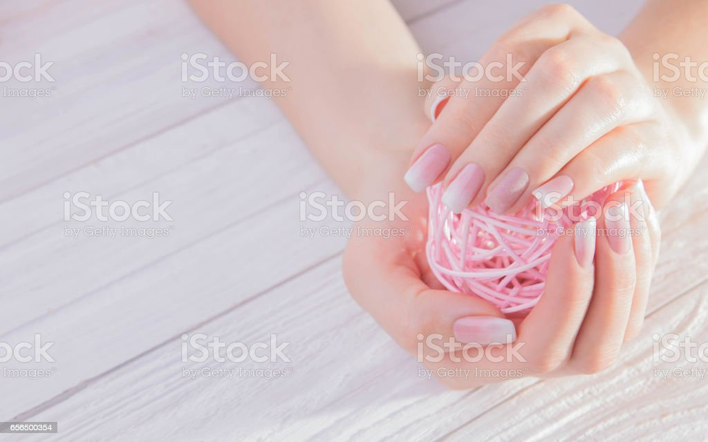 Ombre french manicure stock photo
