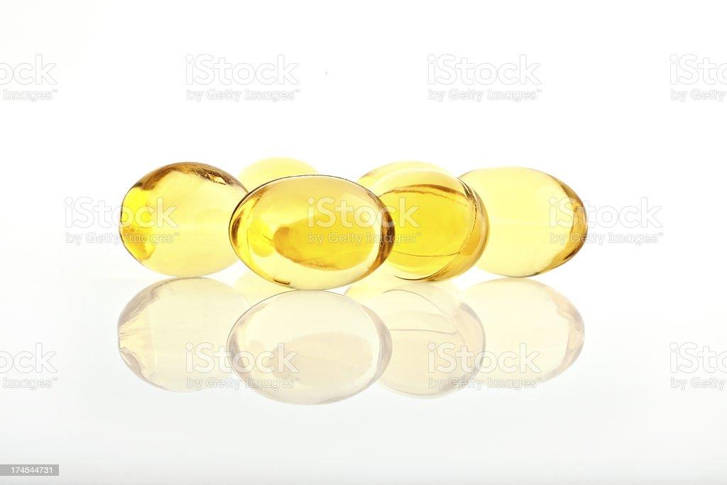 Omega 3 Capsules royalty-free stock photo