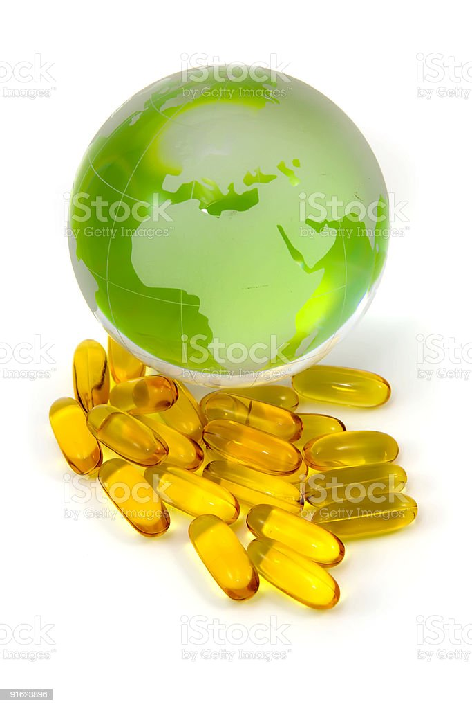 Omega 3 for World royalty-free stock photo