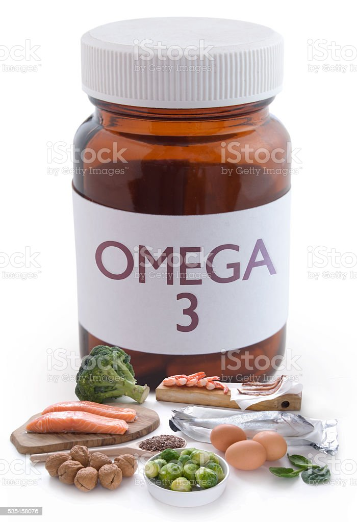 Omega 3 pills concept stock photo